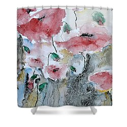 Poppies 01 Shower Curtain