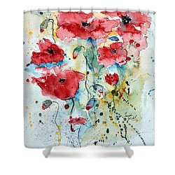 Poppies 04 Shower Curtain
