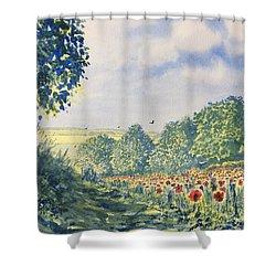 Poppies A'plenty Shower Curtain