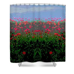 Poppies Field Shower Curtain