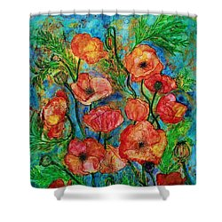 Poppies In Storm Shower Curtain