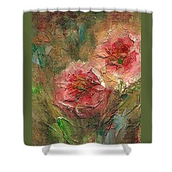 Poppies Shower Curtain by Mary Wolf