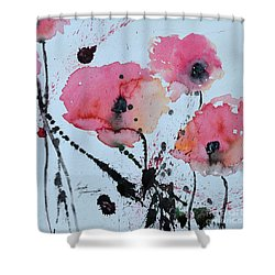 Poppies- Painting Shower Curtain