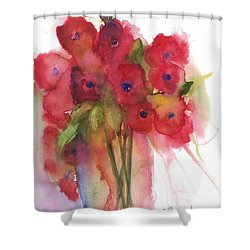 Poppies Shower Curtain by Sherry Harradence