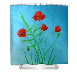 Poppies Shower Curtain by Sven Fischer