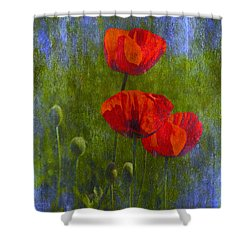 Poppies Shower Curtain by Veikko Suikkanen