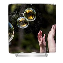 Poppin Bubbles Shower Curtain by Darcy Michaelchuk