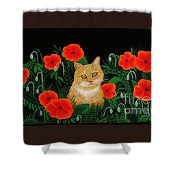 Poppy Cat Shower Curtain