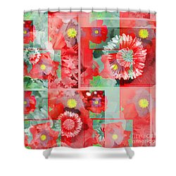 Poppy Collage Shower Curtain