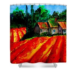 Poppy Field  Sold Shower Curtain by Lil Taylor