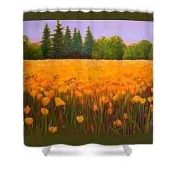 Poppy Fields Forever Shower Curtain