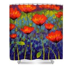 Poppy Meadow   Cropped 2 Shower Curtain by John  Nolan
