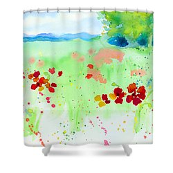 Poppy Passion Shower Curtain by C Sitton