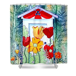 Poppy Potty Shower Curtain