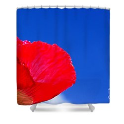 Shower Curtain featuring the photograph Poppy Sky by Baggieoldboy