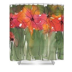 Poppy To Posy Shower Curtain