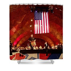 Shower Curtain featuring the photograph Pops Finale by Barbara McDevitt