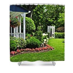 Porch And Garden Shower Curtain by Elena Elisseeva