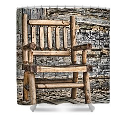 Porch Chair Shower Curtain by Heather Applegate