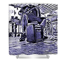 Shower Curtain featuring the photograph Porch Pickin by Bartz Johnson