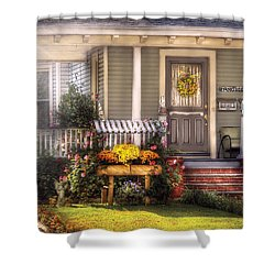 Porch - Westfield Nj - The House Of An Angel Shower Curtain by Mike Savad