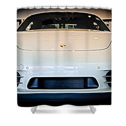 Porsche 911 50th Front With Led's Shower Curtain