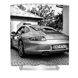 Porsche 911 Carrera 4s Shower Curtain
