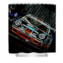 Porsche 911 Racing Shower Curtain