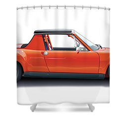 Porsche 914-6 Gt Shower Curtain by Alain Jamar