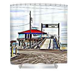 Shower Curtain featuring the photograph Port Aransas Gulf Side by Antonia Citrino