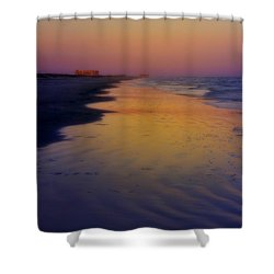 Shower Curtain featuring the photograph Port Aransas Sunset by Ellen Heaverlo
