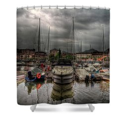 Port At Como Lake Shower Curtain