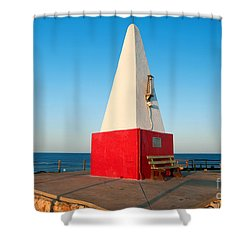 Shower Curtain featuring the photograph Port Denison Obelisk by Yew Kwang