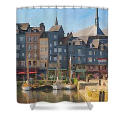 Port D'honfleur Shower Curtain