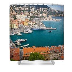 Port Du Nice Shower Curtain by Inge Johnsson