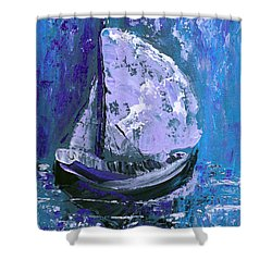Port In The Storm Shower Curtain by Donna Blackhall