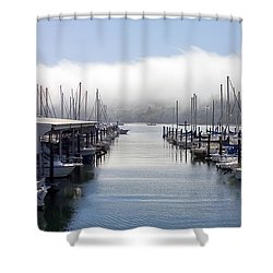 Shower Curtain featuring the photograph Port Kingston Marina by Greg Reed