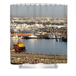 Port Of Agadir Morocco 1 Shower Curtain