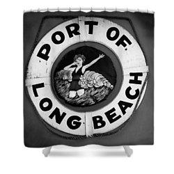 Port Of Long Beach Life Saver By Denise Dube Shower Curtain