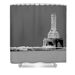 Port Washington Harbor Shower Curtain by Tiffany Erdman