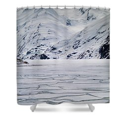 Portage Lake Shower Curtain