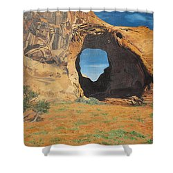 Portal At Window Rock  Shower Curtain
