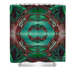 Portal / Escape Hatch  Shower Curtain by Elizabeth McTaggart