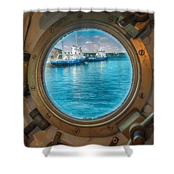Hmcs Haida Porthole  Shower Curtain