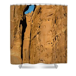 Shower Curtain featuring the photograph Portal Through Stone by Jeff Kolker