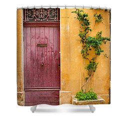 Porte Rouge Shower Curtain by Inge Johnsson