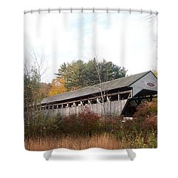 Porter Covered Bridge Shower Curtain by Catherine Gagne