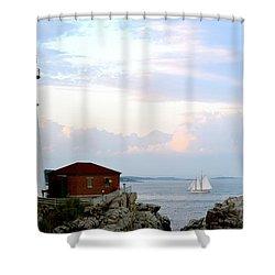 Portland Head Light Shower Curtain