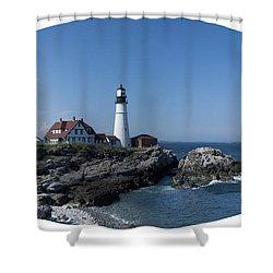 Shower Curtain featuring the photograph Portland Head Light House by Daniel Hebard