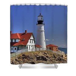 Portland Head Light Shower Curtain by Joann Vitali